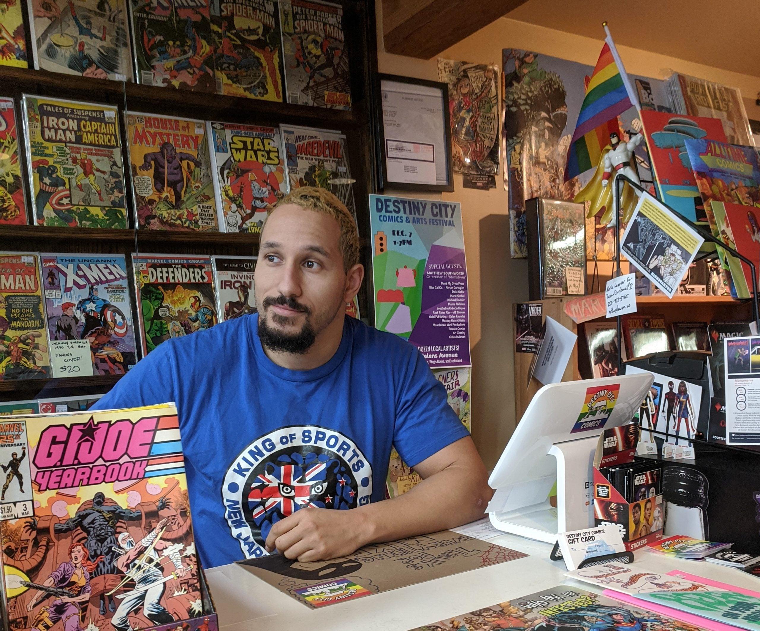 Ethan HD ready to help Destiny City Comics customers
