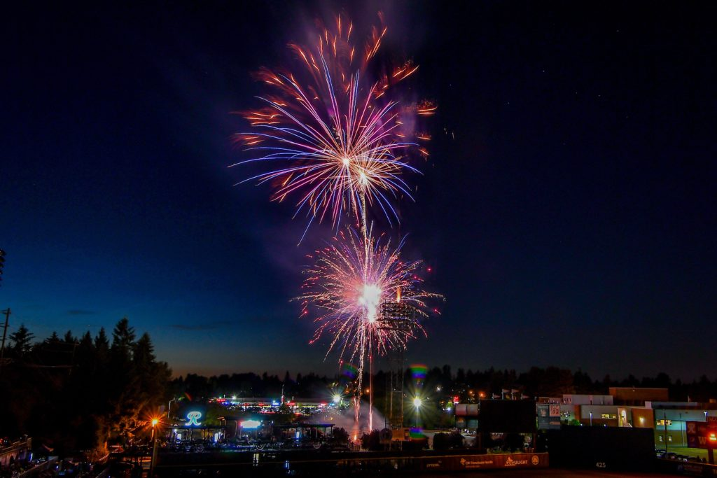 Friday Night Fireworks at Cheney Stadium