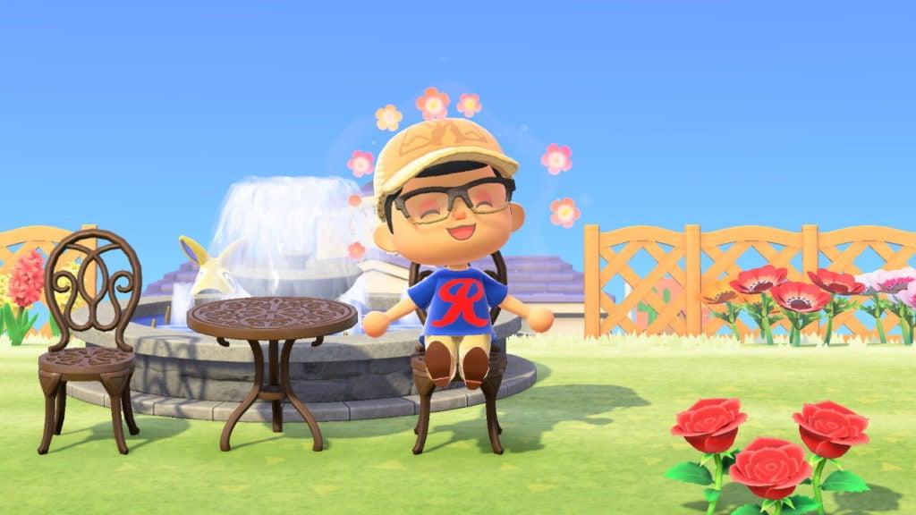 Animal Crossing character wearing Rainiers shirt