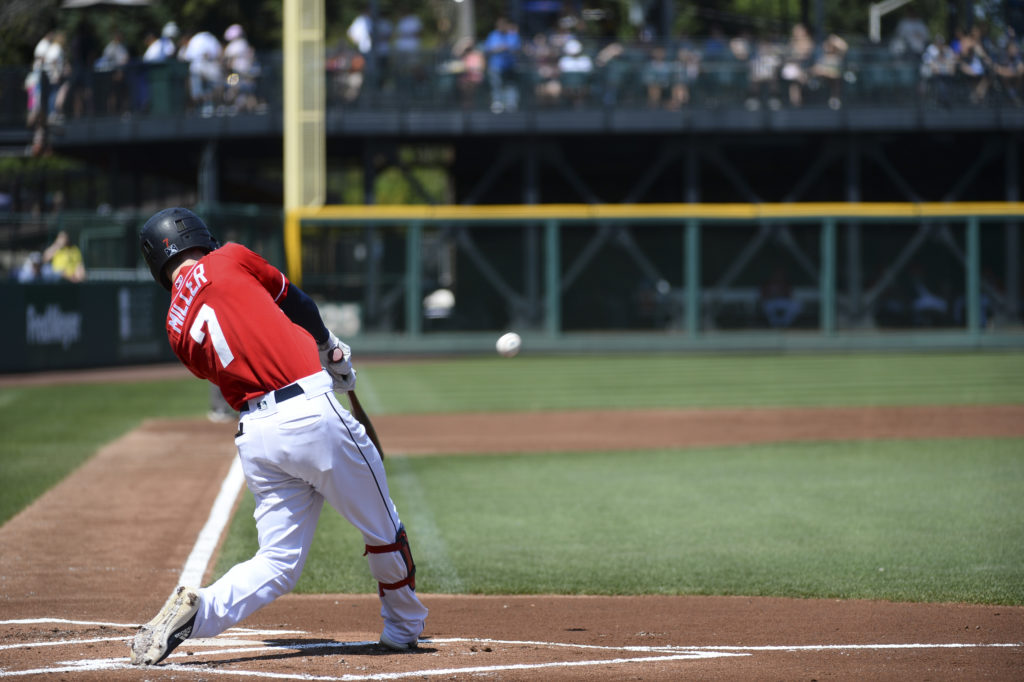 Ian Miller home run swing