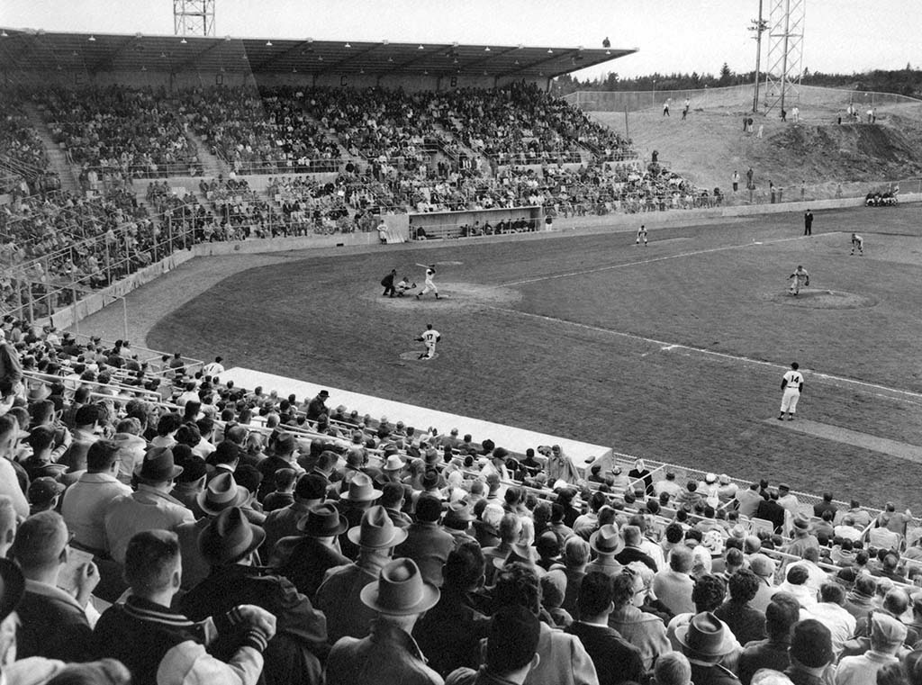 Opening Day at Cheney Stadium in 1960