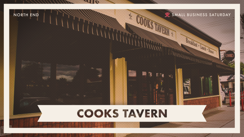 Order Takeout or Delivery from Cooks Tavern on Small Business Saturday