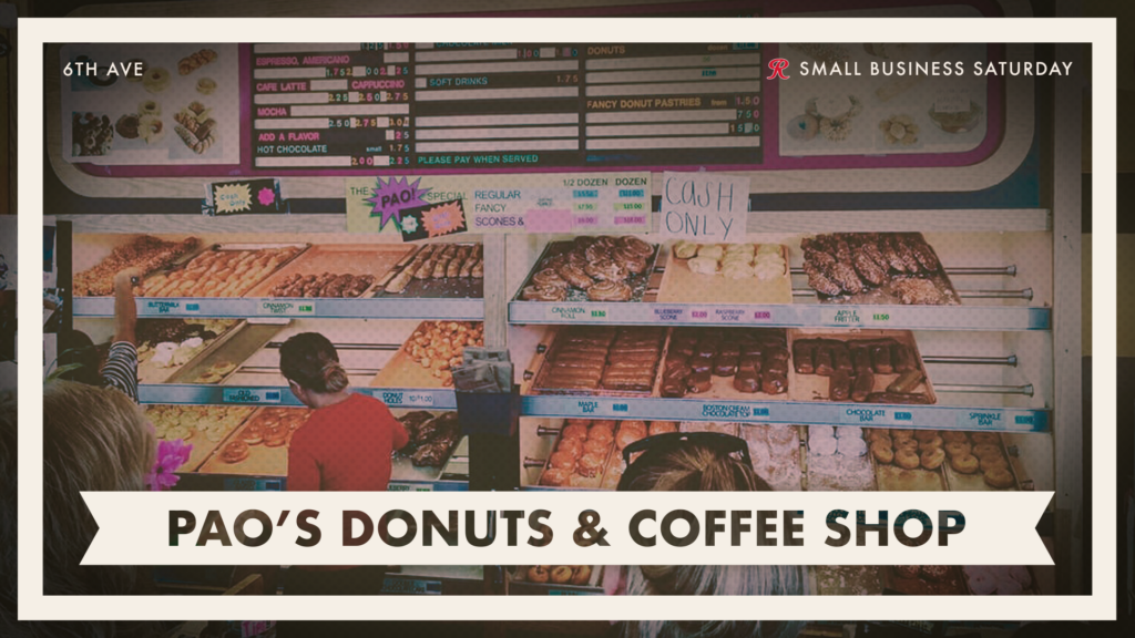 Shop Pao's Donuts and Coffee Shop on Small Business Saturday