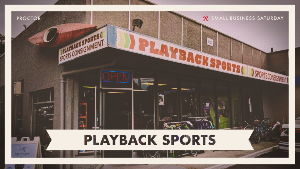 Shop Playback Sports on Small Business Saturday