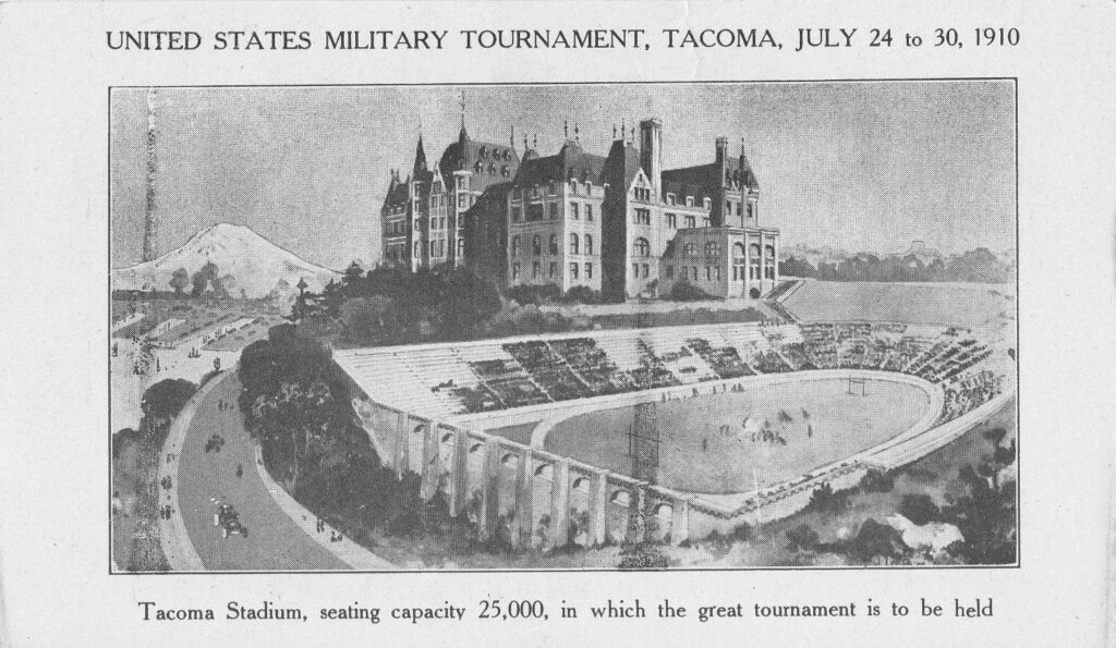 Flyer for the 1910 Military Games at Tacoma Stadium