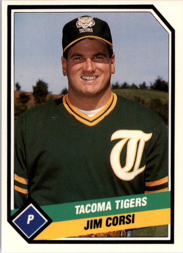 Jim Corsi Tacoma Tigers baseball card