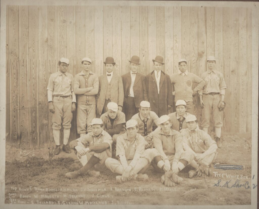Tacoma's Tyee White Sox City Team in 1910, featuring Ernie Tanner