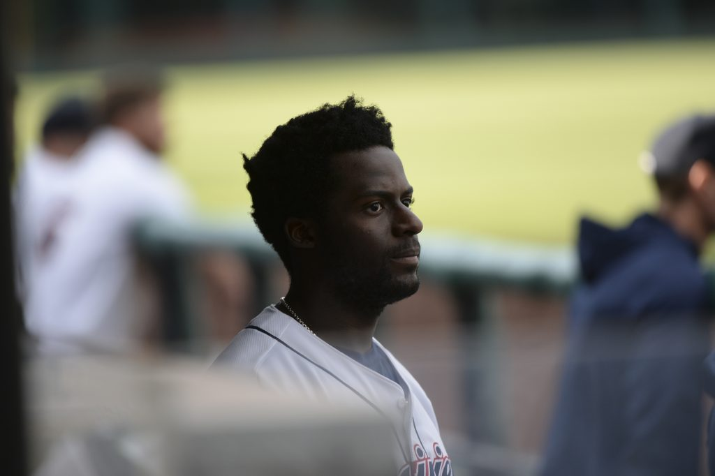 Taylor Trammell in Tacoma RainiersDugout